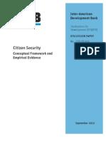 Citizen Security EXCELENTEConceptual Framework Final