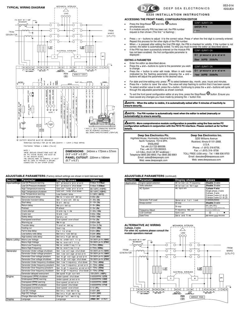 Typical Wiring Diagram  5320 Installation Instructions