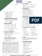 Tabela - Derivadas e Integrais - 2012