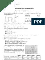 Lista Eletrogravimetria Voltametria