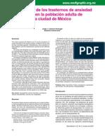 Prevalencia de la Fobis Social En México 2012