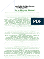 Letter to a Muslim Student