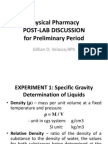 Physical Pharmacy Post Lab