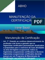 Slides Manutencao Certificacao