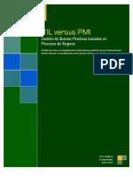 Comparación grafica de PMI versus ITIL