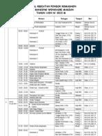 Jadwal Kegiatan Pondok Romadhon 2013