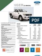 Attach DB011 Ford Ranger XL 6 Speed MT Price List_Sarawak