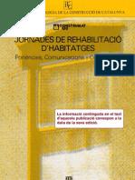 Jornades de rehabilitació d'habitatges. Ponències, Comunicacions i Conclusions_ITeC_1983