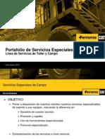 Tarifario de Servicios Especiales 2013
