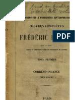 FRANCES- Bastiat, Oeuvres complètes de, vol 1 Correspondance. (1st ed. 1855).pdf