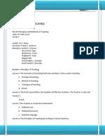 Module 1-Principle of Teaching