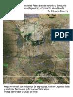 Mapa de Ubicación de las Áreas Bajada de Añelo y Bandurria