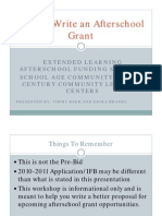 Afterschool Grant Writing Workshop - Jan 14 2011