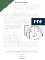 Coordenadas e a Esfera Celeste