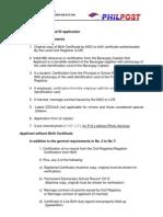 Postal Id Requirements