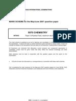 Chemistry J 07 paper 3 mark scheme