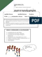 evaluacion  de multiplicación como sumas iteradas 3º básico 2010