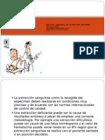 Metodos Generales de Extraccion Sanguinea 2013