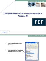 Changing Regional Settings in Windows XP
