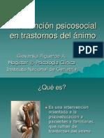 Intervención psicosocial en trastornos del ánimo