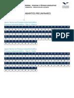 Gabarito Preliminar Edital 03 - Técnico