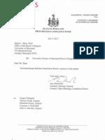 Maryland Open Meetings Compliance Board report on USM Regents