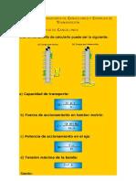 Cálculos Elevadores de Cangilones y Correas de Transmisión