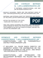 Interface and Contrast Between Constitutional Law and Administrative Law