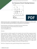 Pengukuran Risiko Manajemen Proyek Teknologi Informasi (2010)