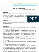Manual de Instrução do Termostato