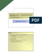 Tema 09 - Identificación y Especificaciones en el Dominio de la Frecuencia