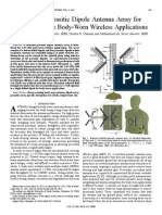Switched Parasitic Dipole Antenna Array for High-Data-Rate Body-Worn Wireless Applications
