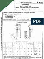 IS_730 (1978) - J,L,U Bolts Standards
