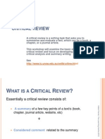 Critical Review  Atricles