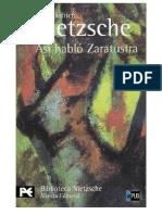 Asi Hablo Zaratustra Friedrich Nietzsche