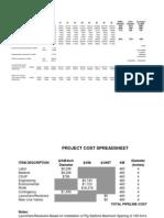 Pipeline Costs Spreadsheet