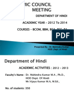 Dept. of Hindi Ppt.