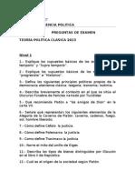 Examen Teoría  Clásica 2013