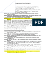 Historical Anthropology Reading List
