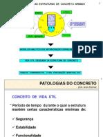 PATOLOGIAS DO CONCRETO ARMADO - VIDA ÚTIL
