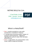 Noting Skills for S.a's