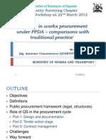 CPD- Procurement of Public Works in Uganda