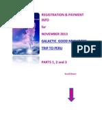 Peru November 2013 Registration and Payment Info