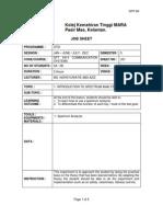 Job Sheet 1