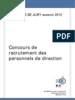 Rapport de Jury 2012 Personnels de Direction 226157