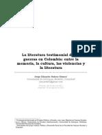 Suarez, Jorge (2011). La Literatura Testimonial de Las Guerras en Colombia...