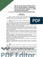 Legea Pensiilor Nr 263 2010 Legea Pensiilor Actualizata 2013 Copy