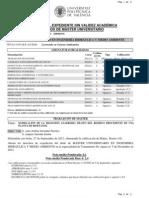 Expediente Master Ingeniería Hidráulica y Medio Ambiente