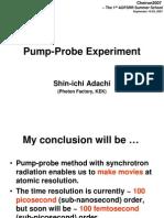 Pump Probe Experiment