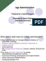 College Administration=Presentation